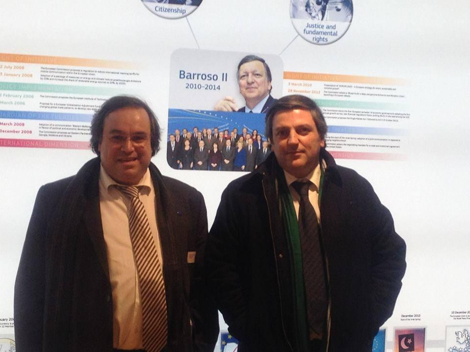 Vice-Presidente do IPCA, Dr. Agostinho Silva e o Presidente do RCB, Miguel Marote Henriques